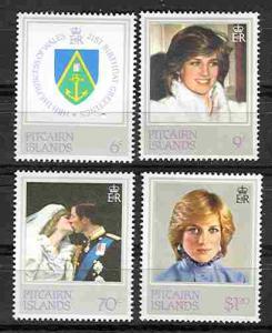 Pitcairn # 213-16 Princess Diana  (4)  Mint NH