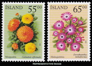 Iceland Scott 931-932 Mint never hinged.