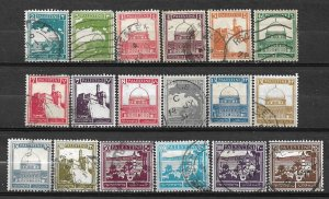 COLLECTION LOT #769 PALESTINE 18 STAMPS 1927+