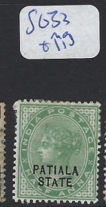 INDIA  PATIALA    (P2807B)   QV  1/2A  SG 33  MOG