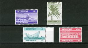 Bangladesh 1976-77 Definitive Set (4) MNH Sc#103-106