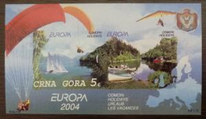 MONTENEGRO - BLOCK -PRIVATE ISSUE! ex yugoslavia jugoslawien coat of arm boat J1