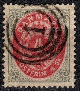 Denmark #18 F-VF Used CV $10.00 (X7449)