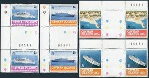 Cayman 392-395 gutter,MNH.Michel 393-396. New Harbor,Cruise Ships,1978.