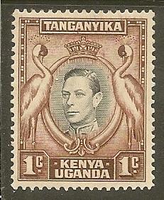Kenya-Uganda-Tanganyika  Scott 66        King, Birds        Unused