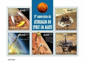 Z08 IMPERF GB191009a GUINEA BISSAU 2019 Spirit landing on Mars MNH ** Postfrisch