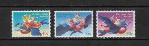 CHRISTMAS ISLAND #370-2  CHRISTMAS 1995  MNH