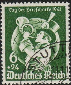 Stamp Germany Mi 762 Sc B188 1941 WWII Fascism Collecting Day World Globe Used