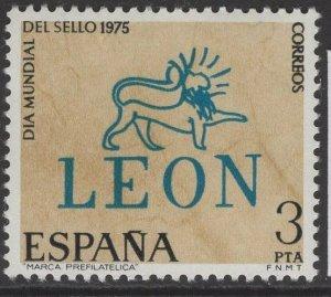 SPAIN SG2306 1975 WORLD STAMP DAY MNH