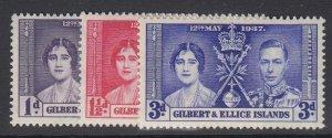GILBERT & ELLICE IS, Scott 37-39, MHR