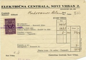 SERBIA 1931 NICE CLEAN RECIEPT WITH 10 PARA TAX STAMP
