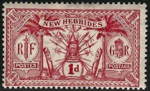British New Hebrides Attractive SC#18 Mint F-VF hr.SCV$4.25...Grab a Bargain!