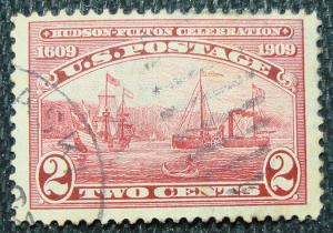 US #372 Used Single(Thin?), Hudson-Fulton, SCV $4.75 L13