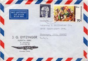 Germany, Airmail, Aviation, Reptiles, Art