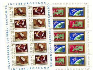 Romania 1974/75  Europa sheets Mint VF NH - Lakeshore Philatelics