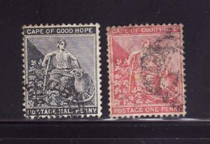 Cape of Good Hope 41-42 U Hope and Symbols of Colony (B)
