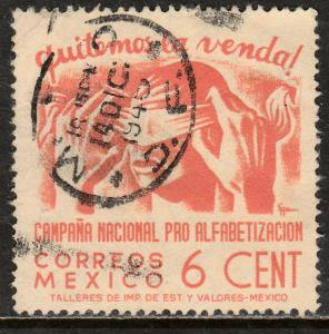 MEXICO 807, 6cents Blindfold, Literacy Campaign Used (842)