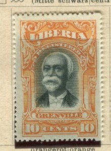 LIBERIA; 1903 early Grenville Pictorial issue fine Mint hinged 10c. value