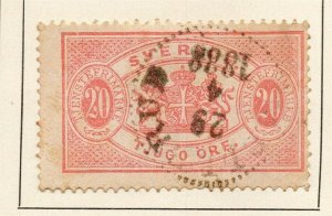 Sweden 1874-93 Early Issue Fine Used 20ore. 179184
