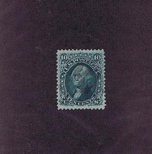 SC# 96 USED 10 CENT WASHINGTON, 1868, LIGHT CORK CANCEL, PSAG CERT
