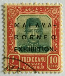 Malaya-Borneo Exhibition opt TRENGGANU 10c Oval 0 USED SG#51bM2347