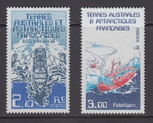 French Southern & Antarctic Territories    #123-24     mnh       cat $1.95