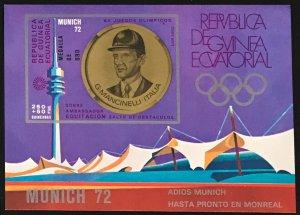 Equatorial Guinea #MiBl41 MNH S/S CV€7.50 Olympics