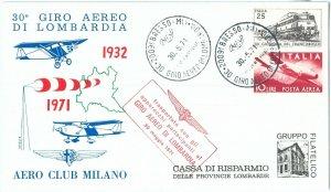 72127 - STORIA POSTALE - AVIAZIONE: 30° Giro Aereo LOMBARDIA  # 01270 1971