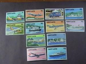 ST. LUCIA # 504-515--MINT NEVER/HINGED--TRANSPORTATION--COMPLETE SET----1980