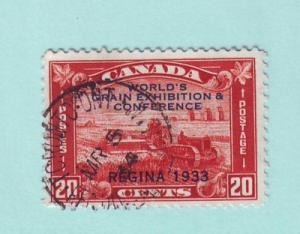 Canada Sc 203 1933 20 c Regina Grain Exhibition stamp used
