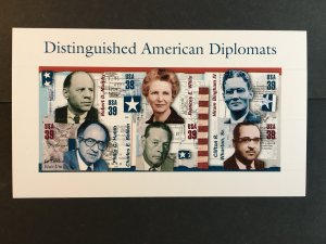 2006 sheet of stamps Distinguished American Diplomats Sc #4076
