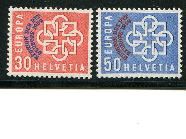 Switzerland  1959 PTT issue VF NH - Lakeshore Philatelics