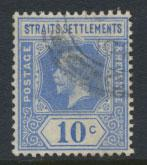 Straits Settlements George V  SG 203a Used  Bright Blue