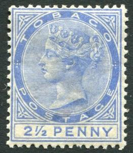 TOBAGO-1883 2½d Dull Blue Sg 16  MOUNTED MINT V20707