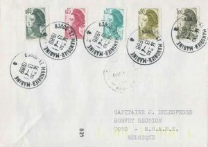 France 5c, 15c, 20c, 80c and 1F Marianne 1988 83800 St. Mandrier-Marine to Su...