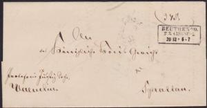POLAND 1860 cover - folded entire ex BEUTHEN................................1559