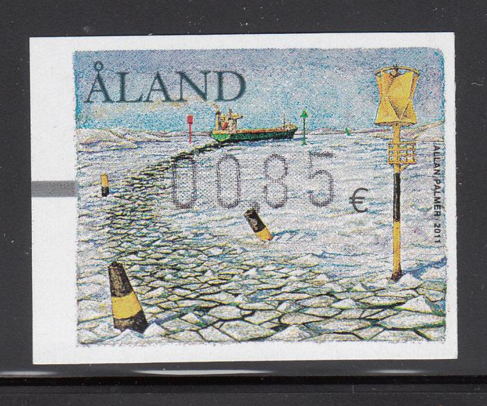 Aland 2011 MNH Postal label 85c Ship going through ice pack
