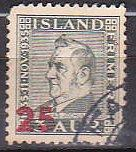 Iceland 236 1941 Surcharge Cpl Used