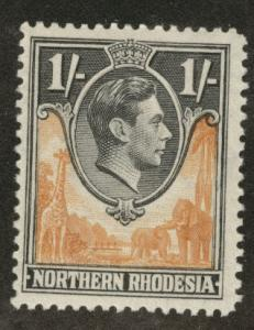 Northern Rhodesia Scott 40 MH*  from KGV! 1938-52 set