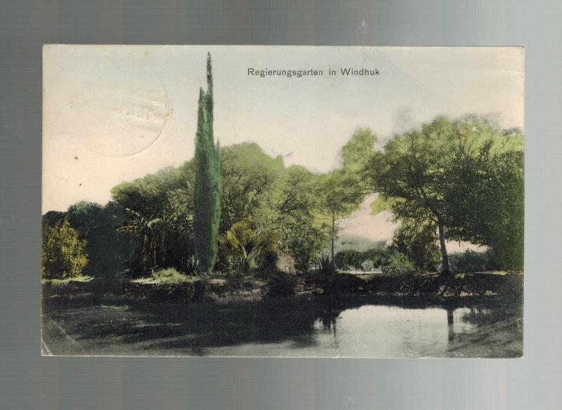 1910 Windhoek  German Southwest Africa Postcard Cover Garden view Real Picture