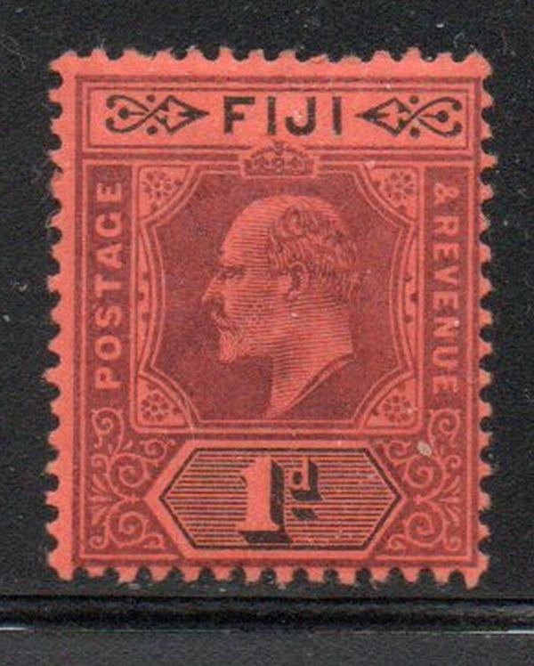 Fiji Sc 60 1903 1d violet & black Edward VII stamp mint