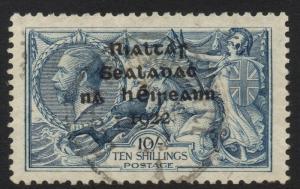 IRELAND SG21 1922 10/= DULL GREY-BLUE FINE USED