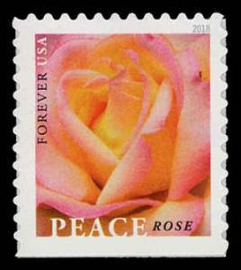 USA 5280 Mint (NH) Peace Rose