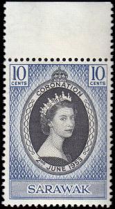 Sarawak Scott 196 Queen Elizabeth II Coronation MNH