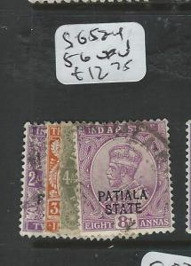 INDIA PATIALA (PP0404B) KGV SG 52-4, 56  VFU
