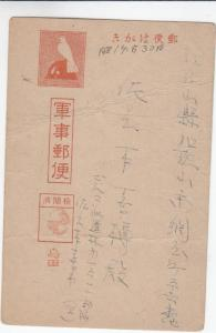 Japanese Forces in Burma to Japan, Postal Card, Censored (M3147)
