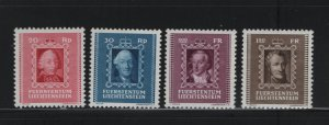LIECHTENSTEIN  181-184 (4) Set, MNH, 1942 Princes