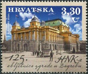 Croatia 2020. Croatian National Theater Building (MNH OG) Stamp