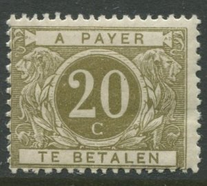 STAMP STATION PERTH Belgium #J14 Postage Due 1916 MVLH CV$48.00