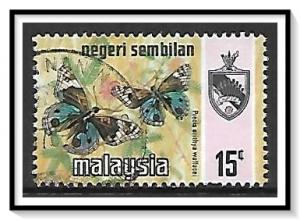 Negri Sembilan #90a State Crest & Butterflies Used